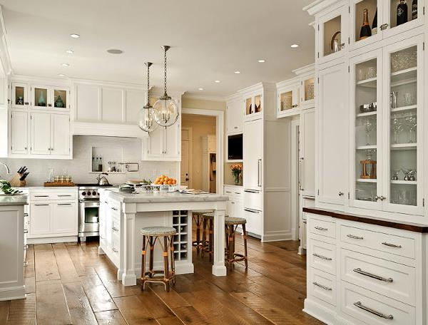 Hardwood floor in the kitchen