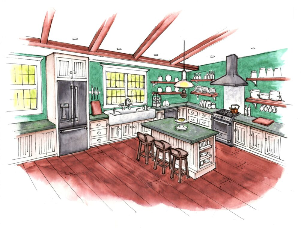 Kitchen plan sketches