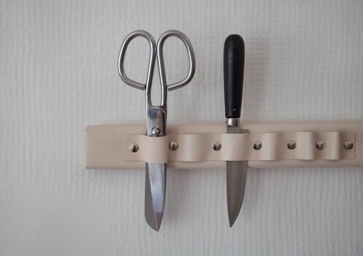 leather knife rack