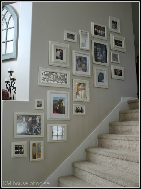 Stairway with photos
