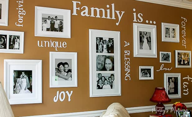 Family Gallery Wall with words