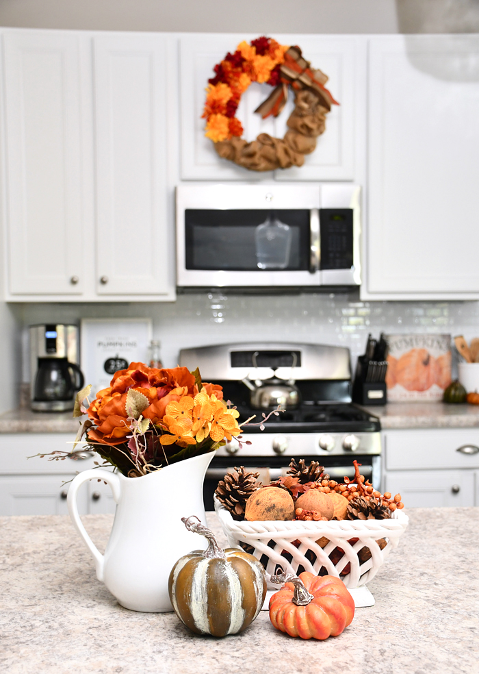 orange fall in the kitchen
