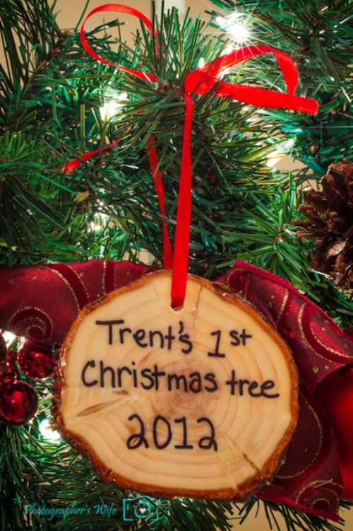 First Christmas tree trunk keepsake ornaments