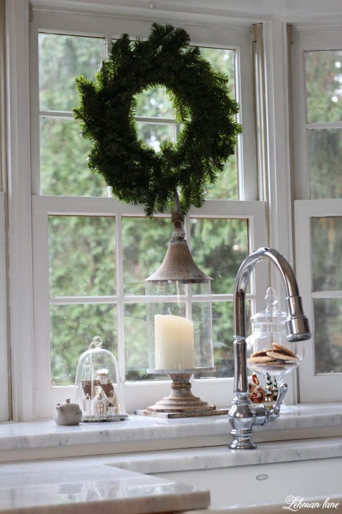 wreath in the window