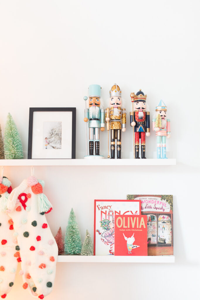nutcrackers and stockings Christmas decor for kids