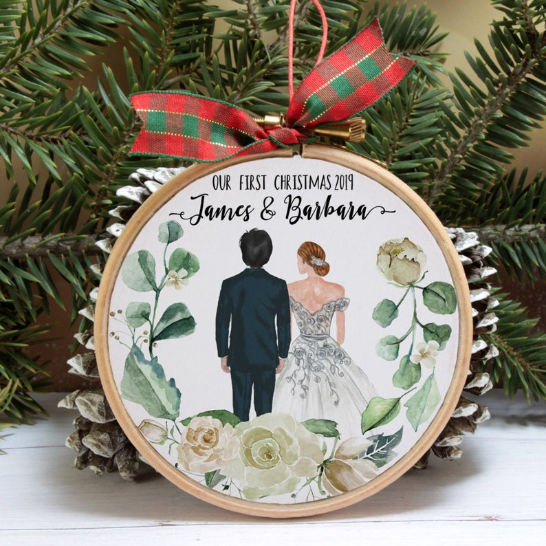 married first Christmas ornaments
