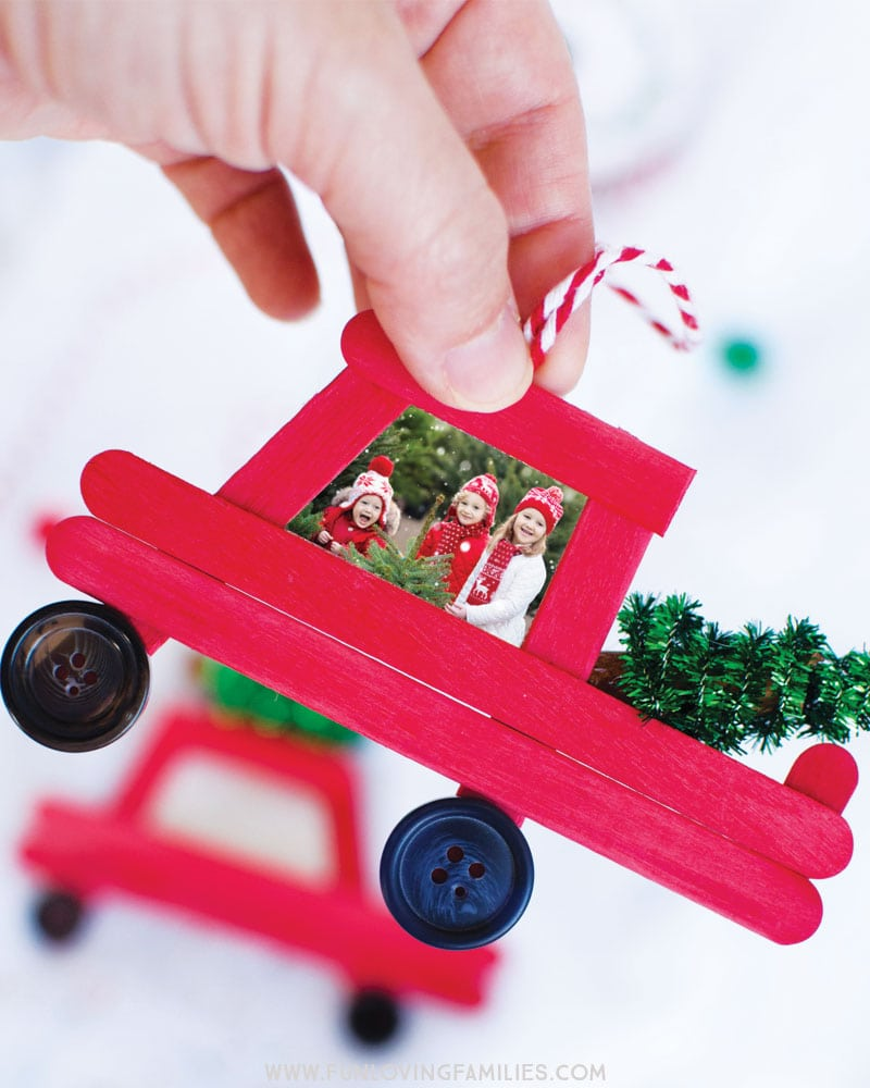 truck popsicle photo ornament