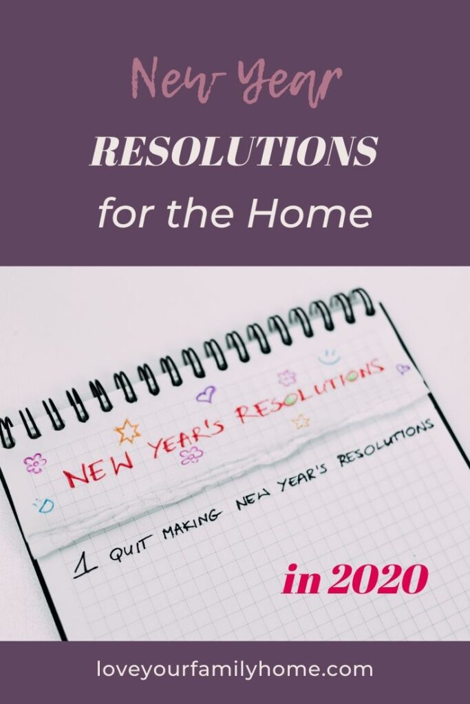 new year resolutions for the home 2020