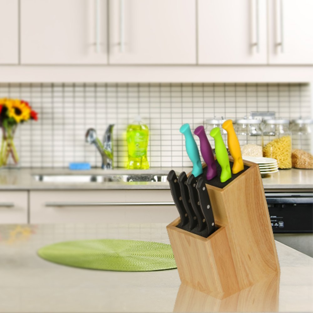 slotless kitchen knife block