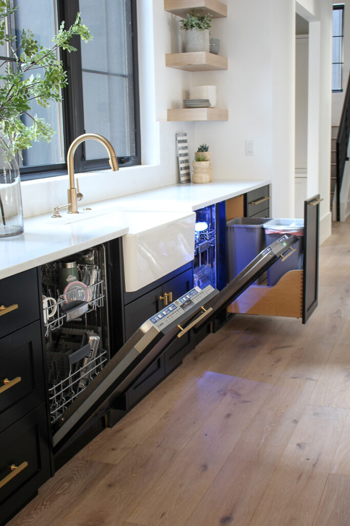 two dishwashers in a kitchen