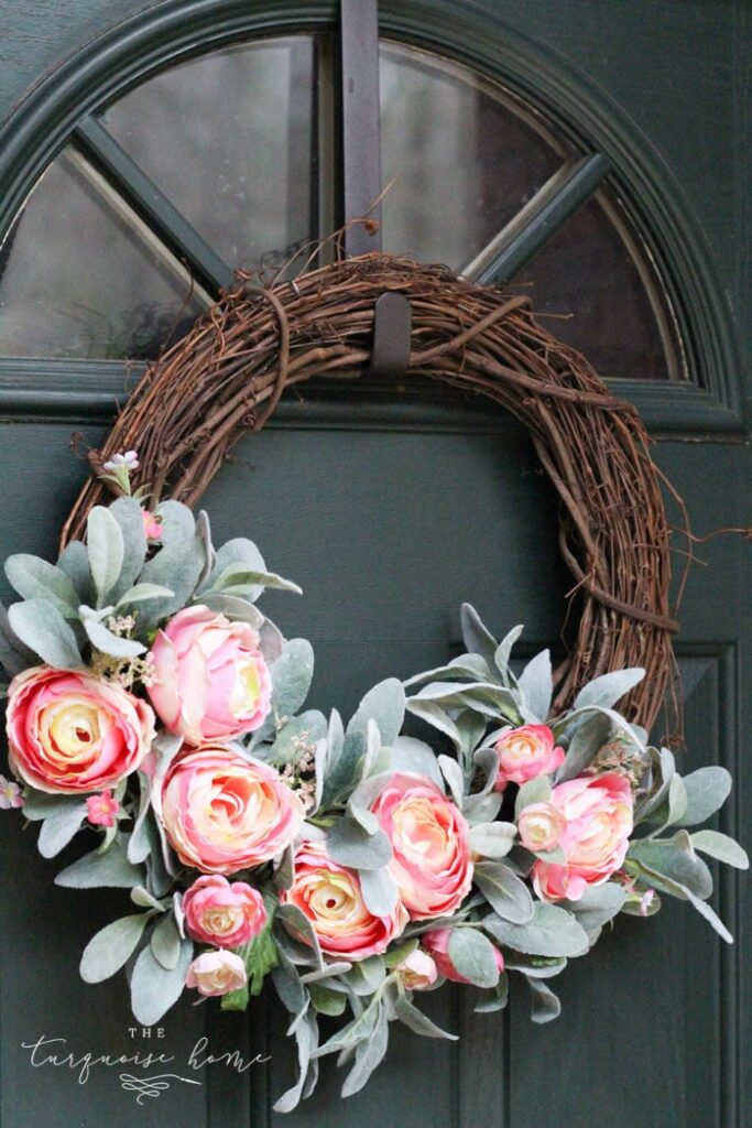 peonies spring wreath
