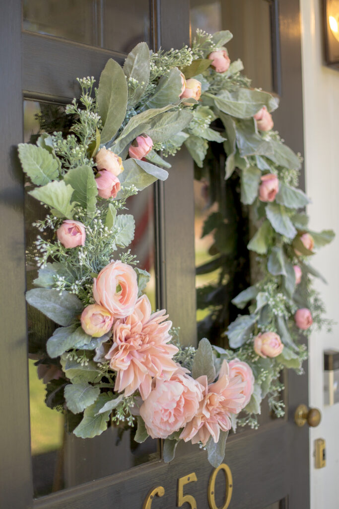 romantic spring wreath