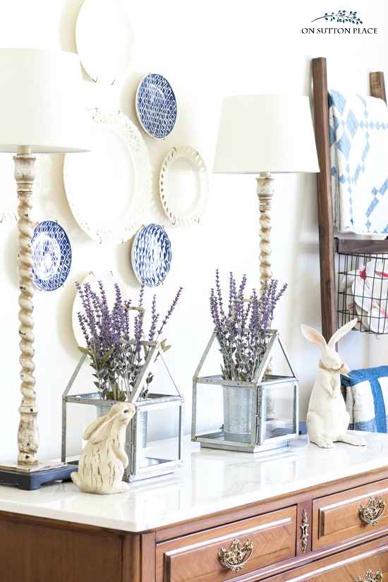lavender spring decor