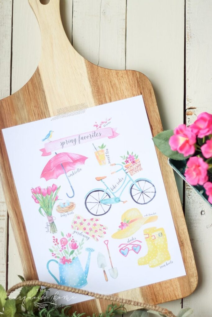 spring favorites printables