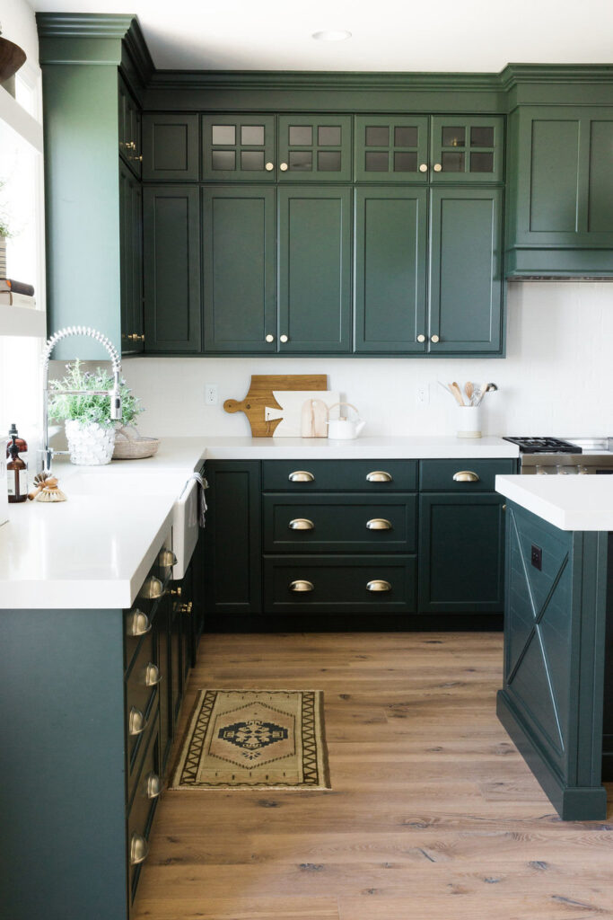 black spruce colored cabinetry