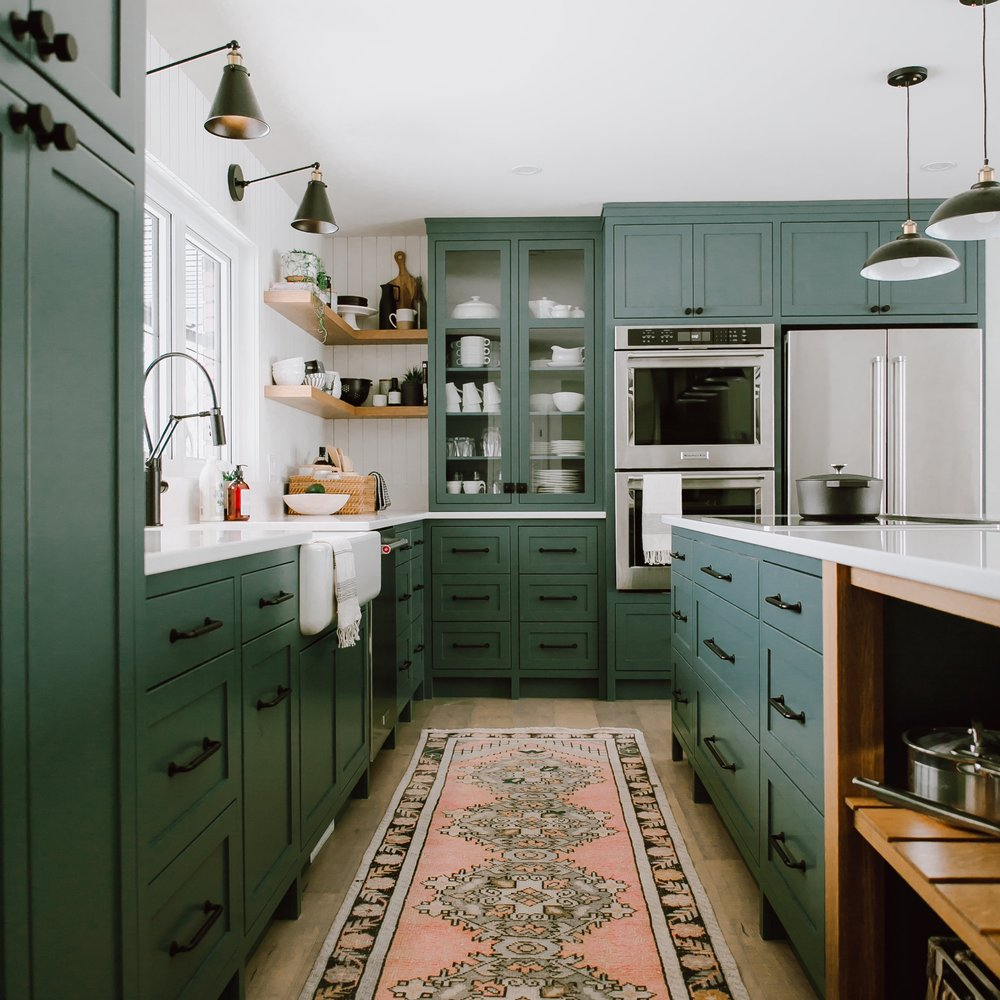 pine green kitchen