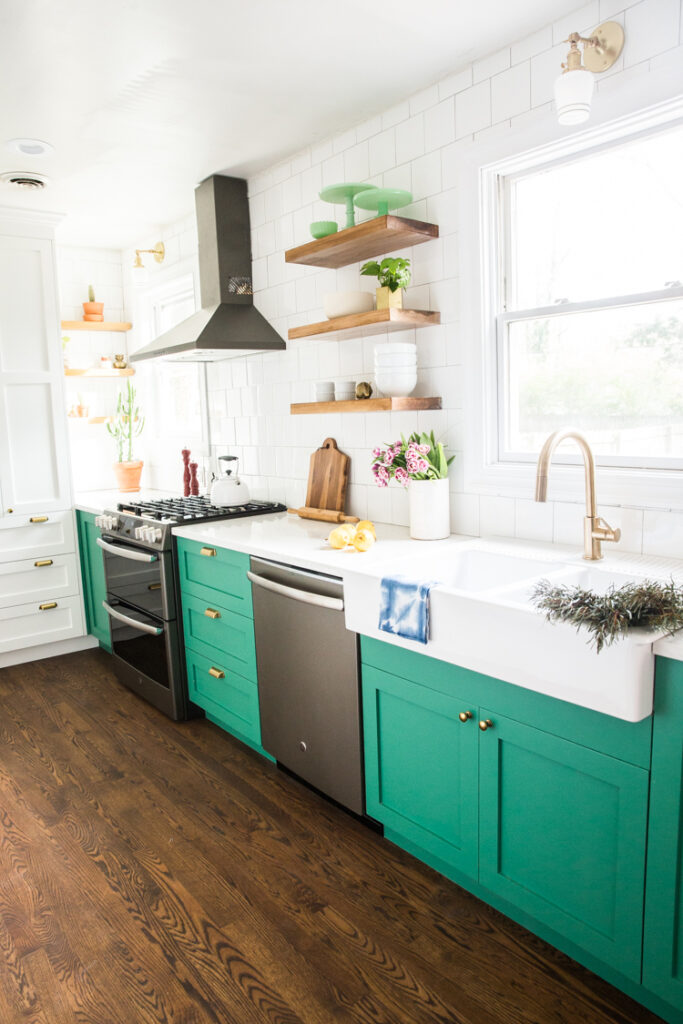 kelly green cabinetry