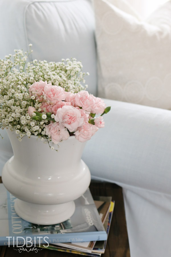 baby breath and pink flowers