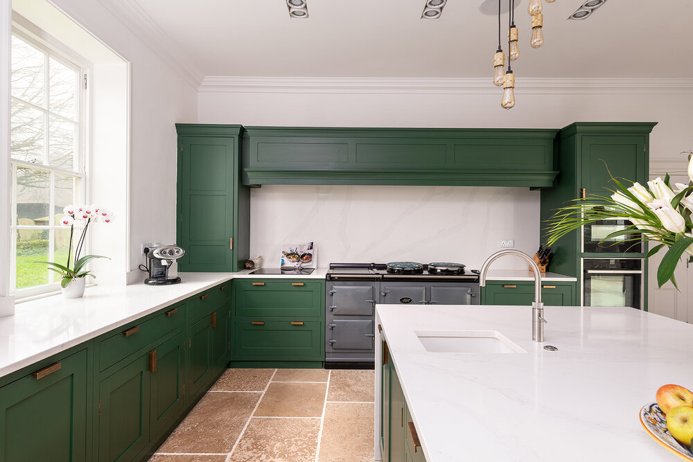 forest green kitchen