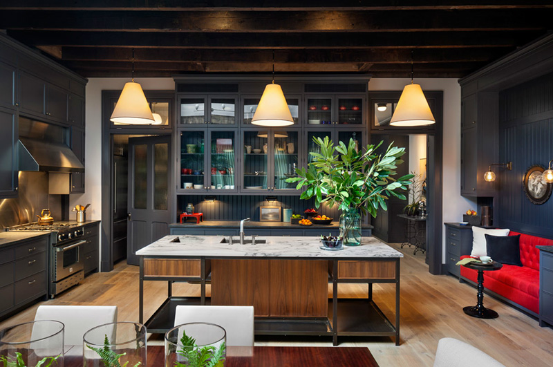 charcoal family kitchen