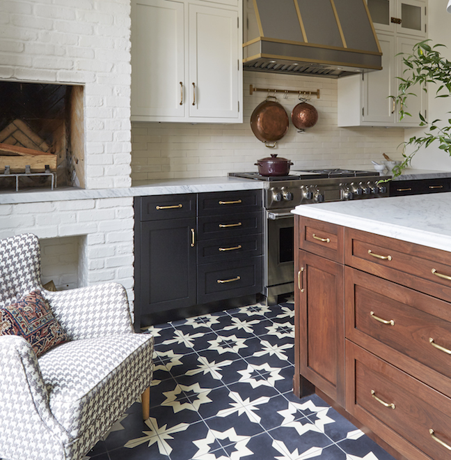 patterned kitchen statement floor