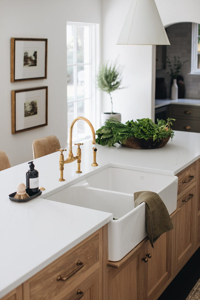 kitchen design ideas: bridge faucet